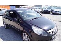 Vauxhall Corsa 1.2i 16v SXi Manual Petrol 3 Door Black Hatchback 2007