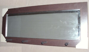 Entryway Wall Mirror with 4  Pegs