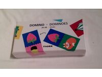 PICTURE DOMINOES FROM TIGER GAMES. NEW AND SHRINK WRAPPED IN BOX.
