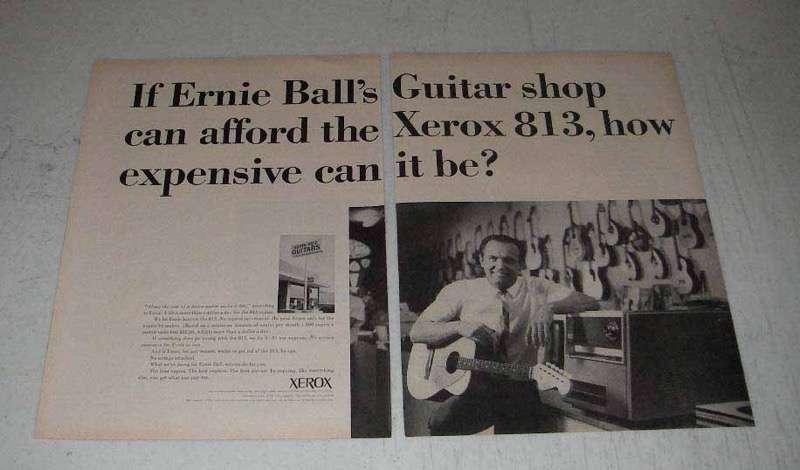 1965 Xerox 813 Copier Ad - Guitar Shop