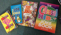 4 joke books for kids -- save money, laugh all the way to bank