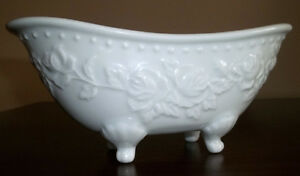 MOVING SALE -- White Porcelain Bathtub Soapdish
