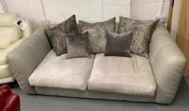 Fabb grey two tone 3 seater sofa