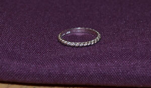 2 SILVER RINGS  925 silver; size 7.5 and 7