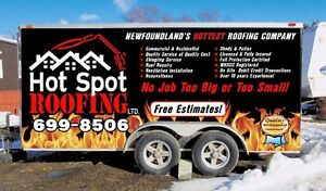 Hot Spot Roofing Ltd. Call for your FREE ESTIMATE today!