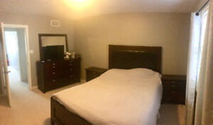 6 Piece bedroom set with box spring and mattress