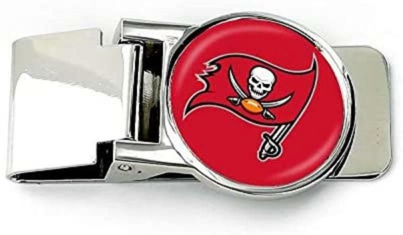 Aminco NFL Tampa Bay Buccaneers Classic Hinged Money Clip Silver