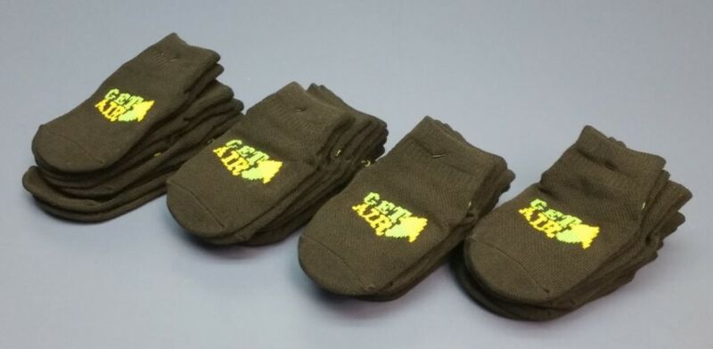 (20 Pair) Get Air Non-Slip Bottom Grip Trampoline Jump Socks Green/Black BABY