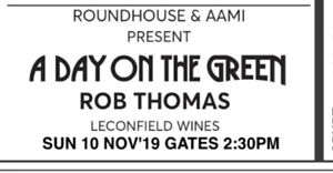 Heavily discounted Rob Thomas a Day on The Green ticket Gold seated