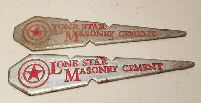 Vintage Lone Star Masonry Cement Mason Line Pin Letter Opener