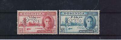 DOMINICA 1946 VICTORY SET MNH STAMPS PERFORATED SPECIMEN