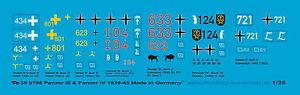 Peddinghaus  0768 1/35 Panzer III und Panzer IV Decals 1939-45