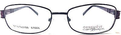 GENEVIEVE DIMENSION BLACK/BURGUNDY Womens Prescription Eye Glasses Frames NEW