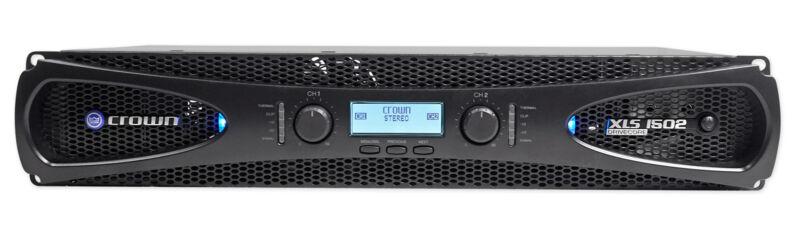 Crown Pro XLS1502 XLS 1502 1550w DJ/PA Power Amplifier Amp, Only 8.6 LBS + DSP!