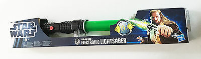 Star Wars Force Electronic Lightsaber Retractable Qui Con Jinn Age 4+ Hasbro Toy