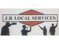 JR LOCAL SERVICES. DECORATOR. GARDENER. REMOVALS. LANDSCAPING. PAINTER. HANDYMAN. BUILDER