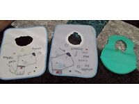 ☆ 3 boys bibs Puppy and plastic Tomee Tipee blue ☆