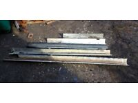 FREE some short lengths of guttering, shed or gardening
