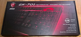 AZERTY gaming keyboard MSI GK-701 CHERRY – new, never used
