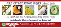 Tiffin services (Pure South-Indian