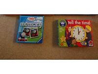 Orchard games tell the time and thomas the tank memory game