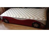 Single car bed with near new mattress