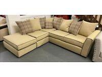 Fabric open end corner sofa