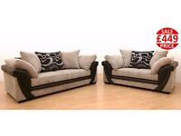 BRAND NEW LUSH JUMBO CORD 3SEATER AND 2 SEATER SOFA SET!!! FAST U.K DELIVERY