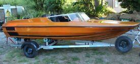 Plancraft Stingray 14ft Dinghy Speedboat with De Graaf Trailer