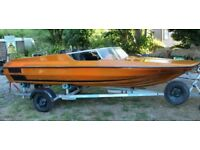 Plancraft Stingray 14ft Dinghy Speedboat with De Graaf Trailer