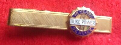 RARE 1970s DUKE POWER 25 YEAR SERVICE , TIE CLASP, EXCELLENT CONDITION