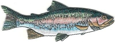 Fish Rainbow Trout (Realistic Rainbow Trout Game Sport Trophy Fish Embroidery Patch )