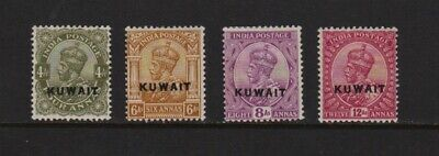 Kuwait #8-11 mint, cat. $ 52.50