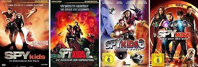 4 DVDs * SPY KIDS -1-4 IM SET - Antonio Banderas, Jessica Albal # NEU OVP $ / §