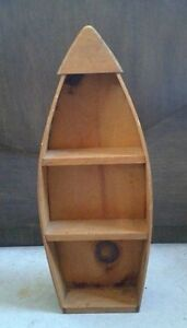 Solid wood boat shelf