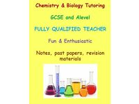GCSE, AS Level and A Level CHEMISTRY and BIOLOGY Tutoring During Easter Holidays