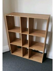 Wood-effect shelves