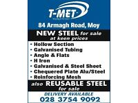 New steel for sale, wide range and keen prices
