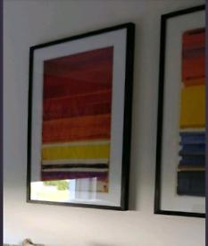 Framed prints x 2