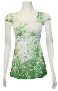 Pretty Green White Floral Babydoll Sheer Top - Juniors S,M,L Gatineau Ottawa / Gatineau Area image 1