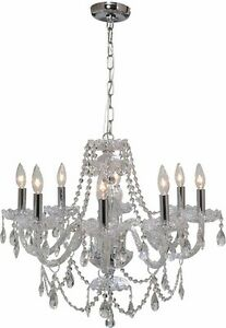 Gen-Lite 104993 Venetian 25.5 In.dia 8 Light Chandelier Crystal Kitchener / Waterloo Kitchener Area image 1