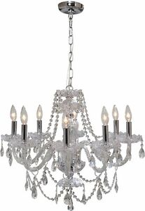 Gen-lite 104993 Venetian 25.5 In.dia 8 Light Chandelier