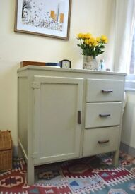 Shabby Chic, Vintage/Retro Cupboard In Farrow and Ball Paint