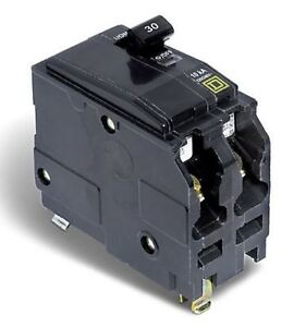 Square D 30 amp Double Pole Circuit Breaker (170119)