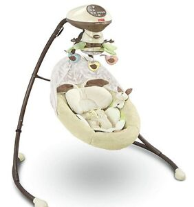 Fisher-Price Snugabunny Cradle 'n Swing with Smart Swing