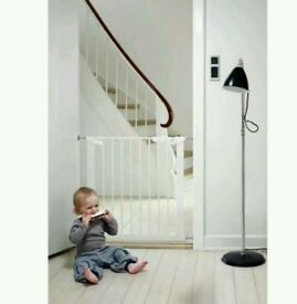 BabyDan Premier Pressure Fit Safety Stair Gate Guard - White