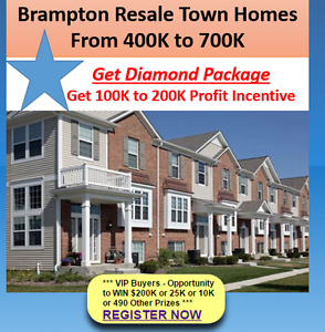 Buy with 10% to 25% Down Payment in Brampton !!