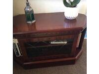 TV unit mahogany