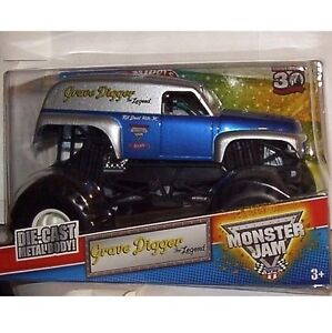 Monster Jam trucks - Grave Digger the Legend - 1:24 Hot Wheels Die-cast model