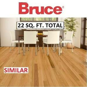 "NEW BRUCE HARDWOOD FLOORING CASE SHD3210 210319959 3-1/4"" x 3/4"" 22 SQ. FT. PER CASE SOLID RED OAK NATURAL FINISH"